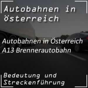 Brenner Autobahn von Innsbruck bis Italien