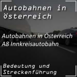 Innkreis Autobahn A8 vom Voralpenkreuz bis Deutschland