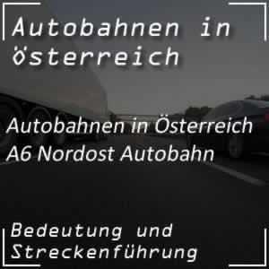A6 Nordost Autobahn von Bruckneudorf bis zur Slowakei