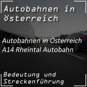 Rheintal Autobahn von Deutschland bis Bludenz