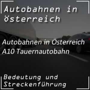 Tauern Autobahn A10 von Salzburg bis Villach