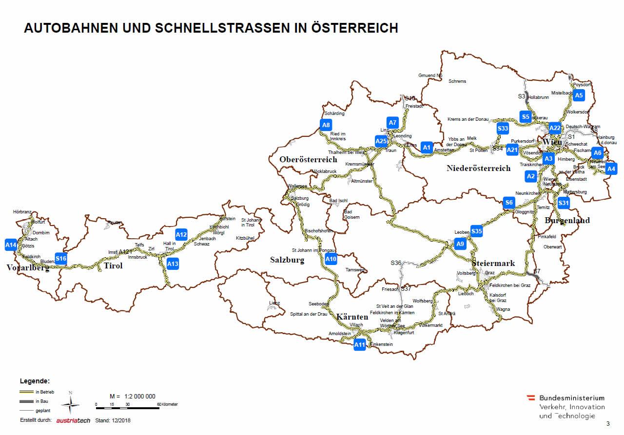Autobahnen und Schnellstraßen in Österreich