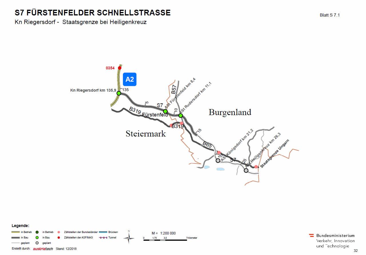 Fürstenfelder Schnellstraße von Riegersdorf bis Ungarn
