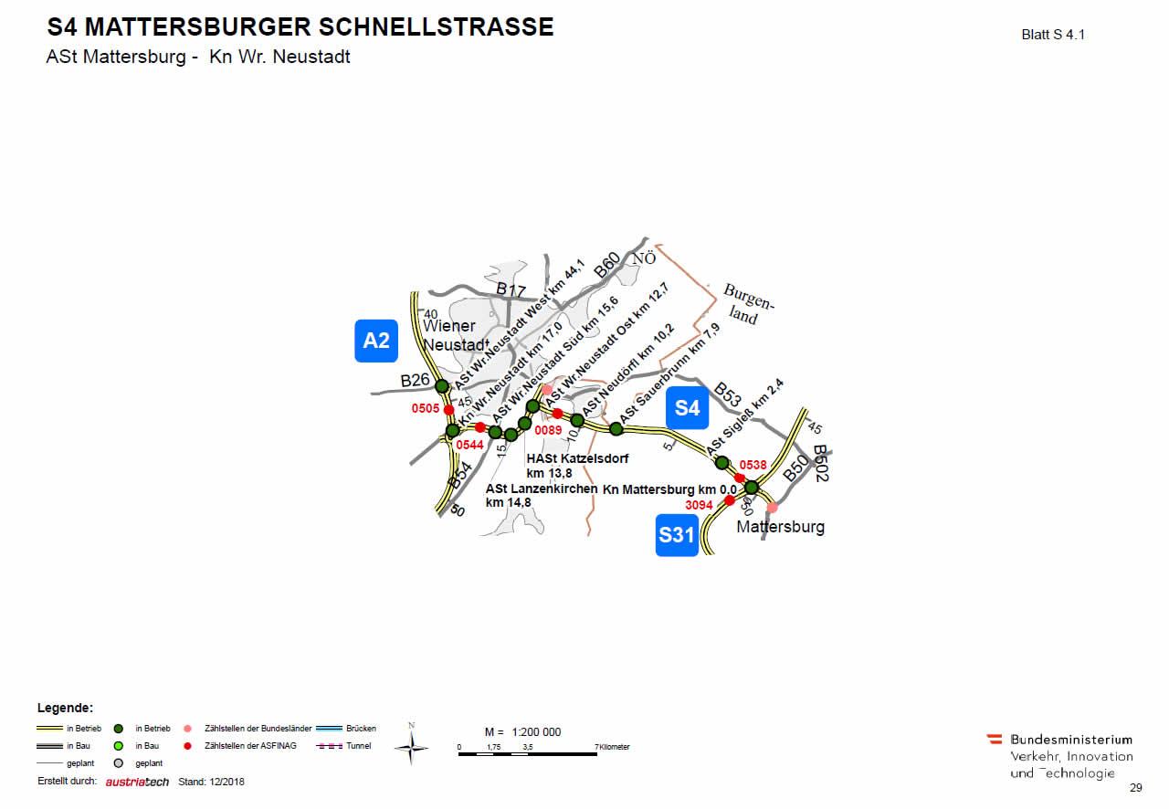 Mattersburger Schnellstraße von Mattersburg bis Wiener Neustadt
