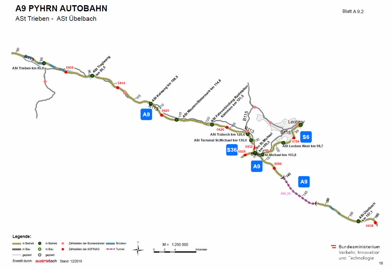 Pyhrn Autobahn von Trieben bis Übelbach