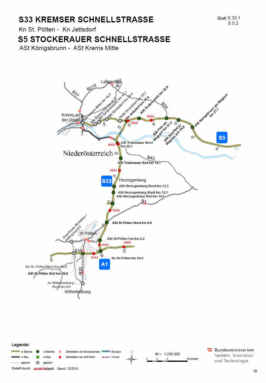 Stockerauer Schnellstraße von Königsbrunn bis Krems