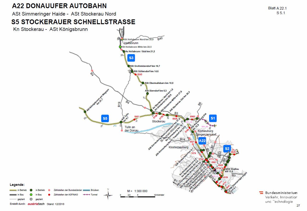 Stockerauer Schnellstraße von Stockerau bis Tulln an der Donau