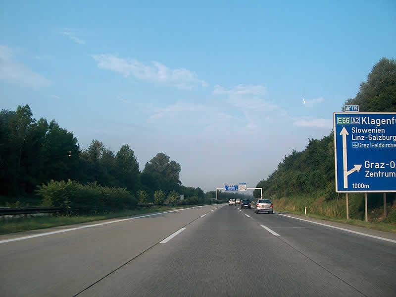 Südautobahn bei Lassnitzhöhe Graz