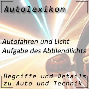 Abblendlicht beim Autofahren