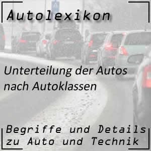 Autoklassen oder Autokategorien