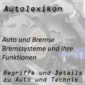 Bremse und Bremssystem im Auto