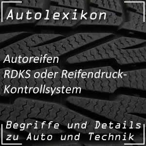 RDKS oder Reifendruck-Kontrollsystem