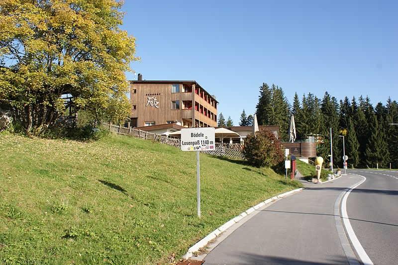 Bergstraße Bödele oder Losenpass bei Schwarzenberg