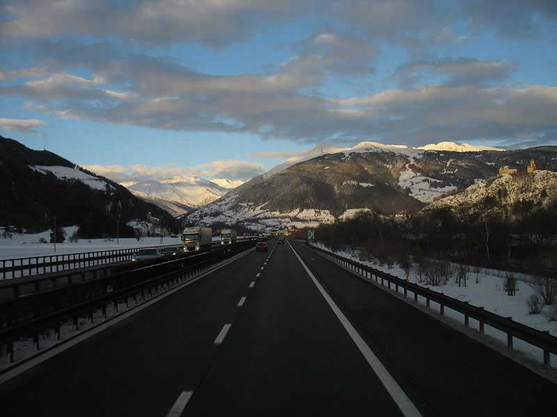 Brennerautobahn Verbindung Tirol mit Südtirol