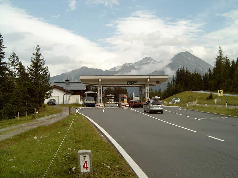 Bergstraße Gerlospass in Salzburg
