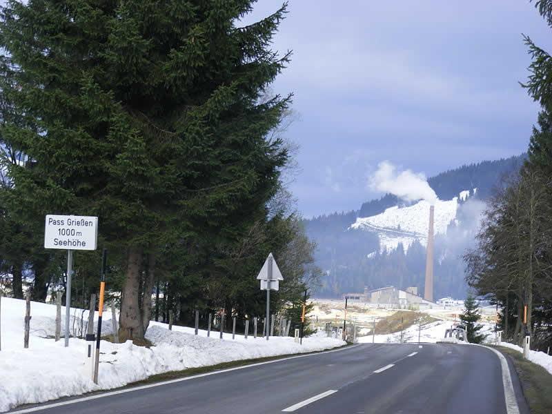 Bergstraße Grießenpass bei Hochfilzen