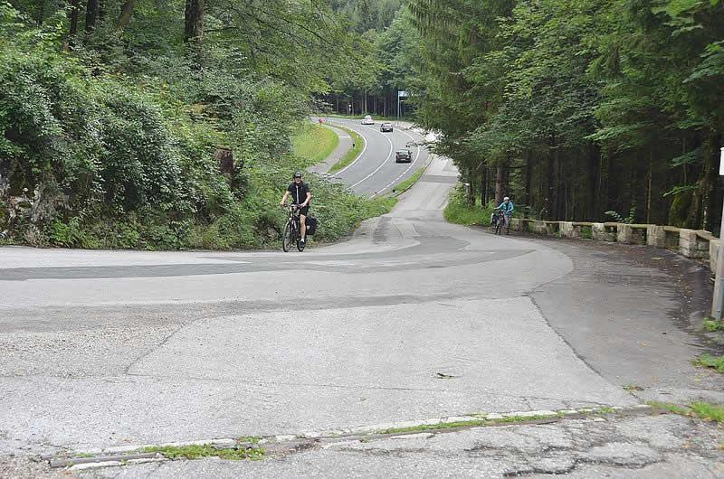 Bergstraße Pass Lueg bei Werfen Salzburg