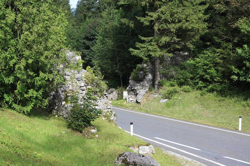 Bergstraße Pass Strub bei Lofer Salzburg