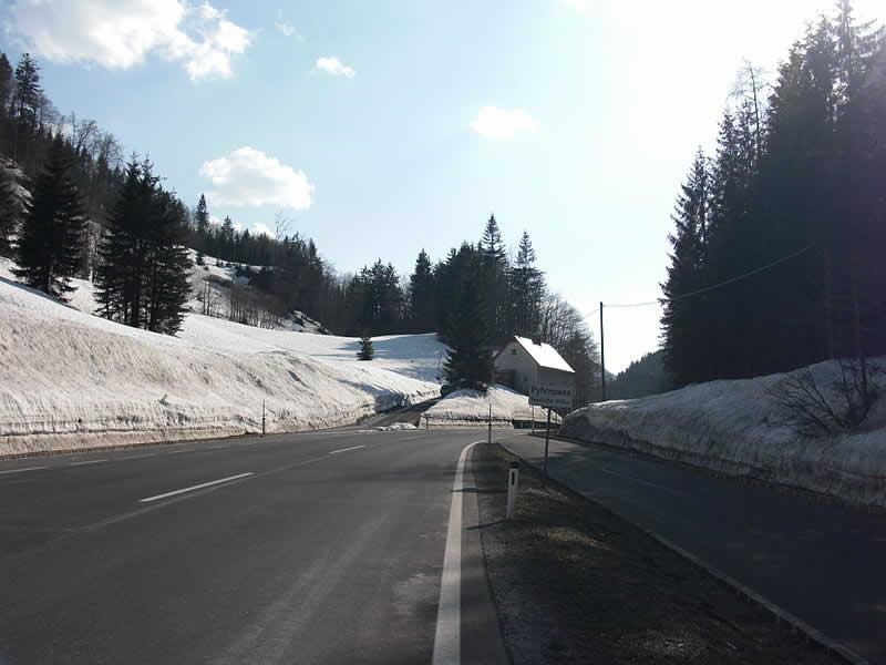 Bergstraße Pyhrnpass Oberösterreich und Steiermark