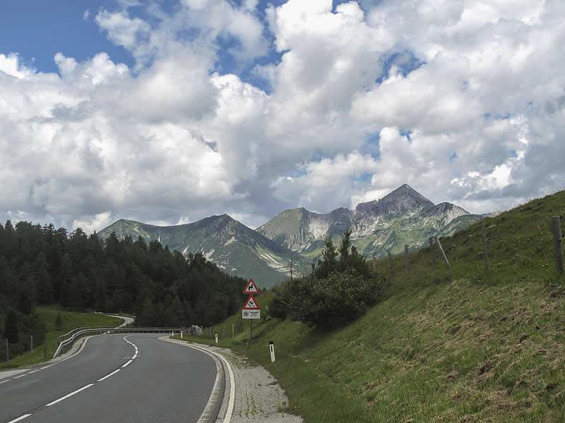 Bergstraße Radstädter Tauern in Salzburg