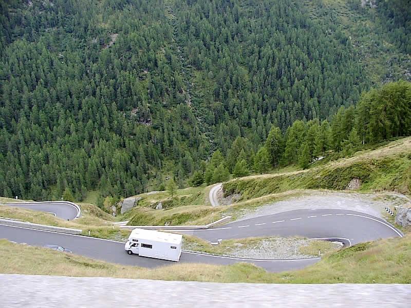 Bergstraße Timmelsjoch Verbindung Tirol und Italien