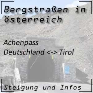 Bergstraße Achenpass: Verbindung Deutschland - Tirol