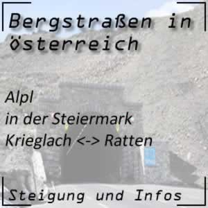 Bergstraße Alpl in der Steiermark