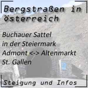 Bergstraße Buchauer Sattel in der Steiermark
