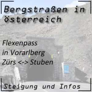 Bergstraße Flexenpass in Vorarlberg