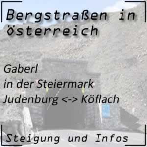Bergstraße Gaberl in der Steiermark
