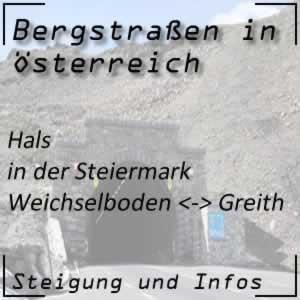 Bergstraße Hals in der Steiermark