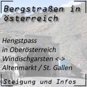 Bergstraße Hengstpass in Oberösterreich und Steiermark