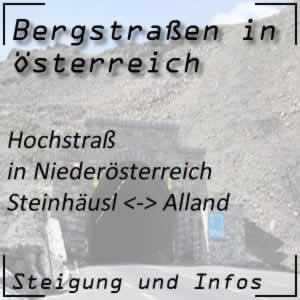 Bergstraße Hochstraß in Niederösterreich