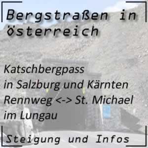 Bergstraße Katschbergpass in Salzburg und Kärnten