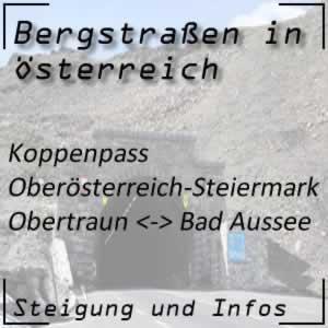 Bergstraße Koppenpass in Oberösterreich und der Steiermark