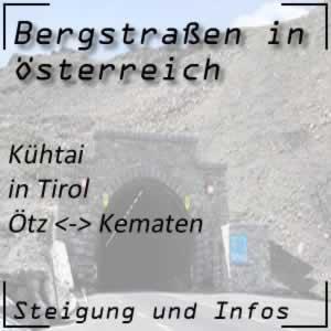 Bergstraße Kühtai in Tirol