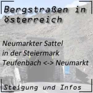 Bergstraße Neumarkter Sattel in der Steiermark