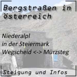 Bergstraße Niederalpl in der Steiermark