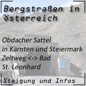 Bergstraße Obdacher Sattel in der Steiermark