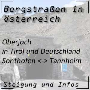 Bergstraße Oberjoch in Tirol