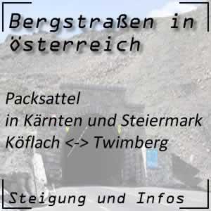 Bergstraße Packsattel in Steiermark und Kärnten