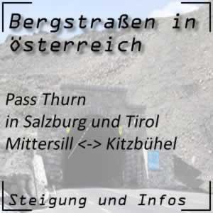 Bergstraße Pass Thurn in Tirol und Salzburg