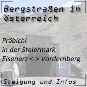 Bergstraße Präbichl in der Steiermark