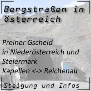 Bergstraße Preiner Gscheid in Niederösterreich und Steiermark
