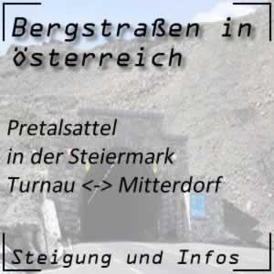 Bergstraße Pretalsattel in der Steiermark