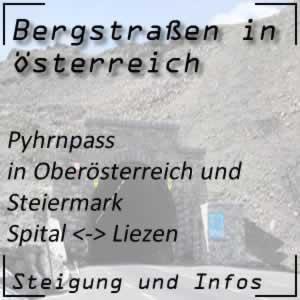 Bergstraße Pyhrnpass in Oberösterreich und Steiermark