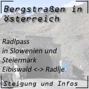 Bergstraße Radlpass in der Steiermark und in Slowenien