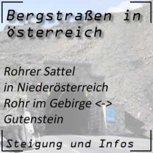 Bergstraße Rohrer Sattel in Niederösterreich