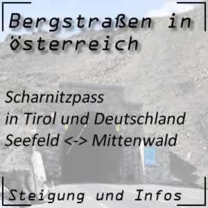 Bergstraße Scharnitzpass in Tirol