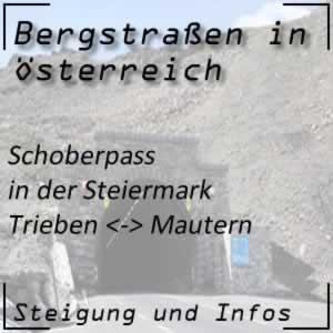 Bergstraße Schoberpass in der Steiermark